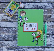 Fútbol Personalizado Cuaderno Infantil Niña Niño Idea Regalo Varios Tamaños