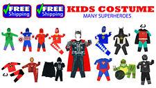 NEW KIDS COSTUMES BOYS GIRLS PARTY BATMAN FROZEN SUPERHEROES HEROES BIRTHDAYGIFT