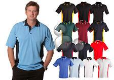 Mens Contrast Polo Shirt Size  S M L XL 2XL 3XL 4XL 5XL Sports Top New!