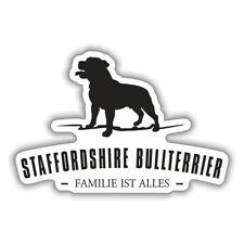 Aufkleber Staffordshire Bullterrier Hunde Dogs Rasse größe 15 oder 62 cm
