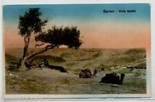 AFRICA LIBIA ITALIANA Tripolitania Garlan Una sosta PC viaggiata 1933