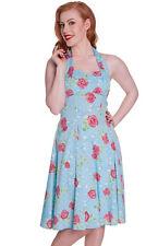 Vestido de dama de honor Vestido Retro 1950s Estilo Vintage Rockabilly Pin Up Dress 8 10 12