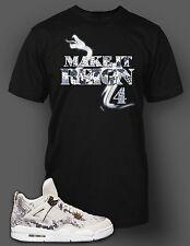 e15e8ee20 Tee Shirt to Match Jordan 4 Snakeskin Shoe Men Short Sleeve Pro Club Graphic