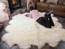 Genuine Natural Sheepskin Rug Large Sizes Quatro, Sexto, Octo Sheepskin Throw