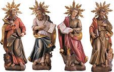 GROUPE 4 évangélistes en bois, 4 évangéliste Coup d'oeil sculptée