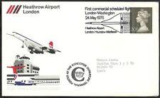 1976 GB CONCORDE LONDON-WASHINGTON FIRST FLIGHT COVER  - 007