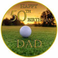 "7.5"" Golf Themed Birthday Retirement  Celebration Personalised Cake Topper"
