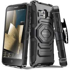 Alcatel OneTouch Fierce XL Case, Rugged Holster Case w/ Kickstand & Belt Clip