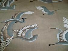 MANUEL CANOVAS SARK METIS BIRDS TOILE LINEN FABRIC 10 YARDS CIEL SKY BLUE