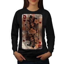Gothic Heart Queen Donna Felpa NUOVO   wellcoda