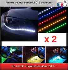 2 bandes Led phares de jour tuning intérieur bande led 30 CM - 5 couleurs