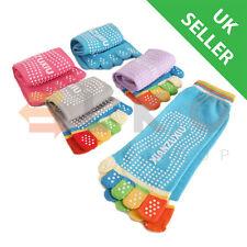 Durable Full Toe Ankle Grip Yoga Pilates Socks Five Finger Anti-Slip Toe Sock UK