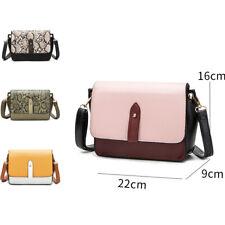 Women's Designer Style Snake Panel Print Crossbody Bag Ladies Handbag