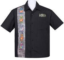 RAT Fink Five Finks Panel Button Up 50s Bowling Shirt Camicia Rockabilly