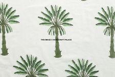 Indian Palm Tree Handmade Block Print Fabric Jaipuri Craft Sewing Material by YD