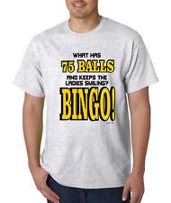 Unique T-shirt Gildan What Has 75 Balls And Keeps The Ladies Smiling Bingo