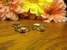 18k Gold Plated Womens Girls Genuine Tiger Eye Stone Gem Fashion Ring