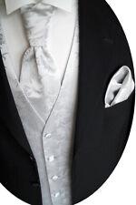 PANCIOTTO nozze con plastron,fazzoletto da taschino e cravatta nr. 5.2 tg. 44-62