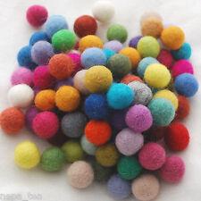Kids Christmas Decoration Handmade 2cm Multicolored Wool Felt Balls Choose Color