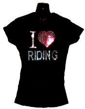 I LOVE DA MOTO CAVALLI ECT donna t shirt con disegno strass (8-18)