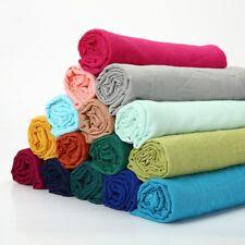 Cotton Linen Fabric DIY Organic Material Pure Craft Dress Curtain Clothes Plain