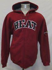 Miami Heat Men XL, 2XL Full-Zip Fleece-Lined Hooded Sweatshirt NBA Red