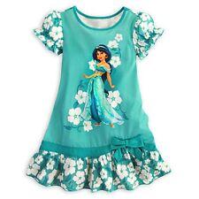 Disney Princess Jasmine Nightshirt Nightgown Aladdin All Sizes NWT White Flowers