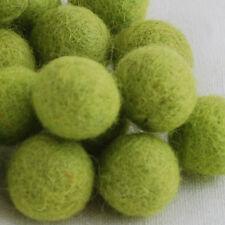100% Wool Felt Balls - 100 Count - Yellow Green - 1cm 1.5cm 2cm 2.5cm 3cm