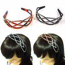 Hair Jewelry Swarovski Crystal Rhinestone Plastic Headband Headpiece Hairband