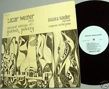 LAZAR WEINER BIANCA SAULER  Yiddish Poetry LP