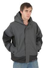 Boys Kids Location Grey Goggle Rain Hooded Waterproof Jacket Coat Junior Sizes