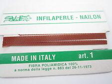 1 infila perle professional color cognac con ago in rame 180 cm  n° da 1 a 9