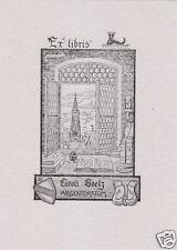 EX LIBRIS BOOKPLATE DI LEO SCHALL (CATHEDRALE DE STRASBOURG)