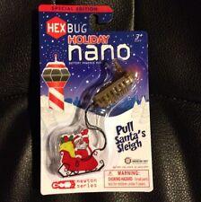 Rare Hex Bug Nano Reindeer Pulling Santa's Sleigh!  Brown w/ Antlers! Limited
