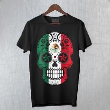 T-Shirt Uomo Skull7 Mexican Teschio Messicano Moda Rock Cool Idea regalo FB TEE