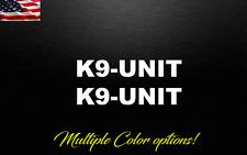 K9 Unit Police Dog decal sticker 2X decals stickers Law Enforcement