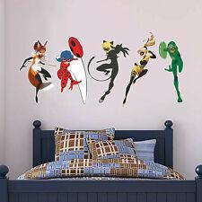 Miraculous Wall Art - Five Superheroes Decal Mural Sticker Kids Bedroom Children