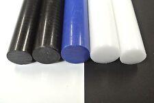 Acétal Rod Noir Blanc Bleu Engineering Plastique Rond Bar Billet Spacer 22-30 mm