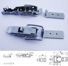 Kistenverschluss Kappenschloss Edelstahl VA + Federsicherung   60mm V2A