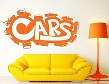 Wall Stickers Vinyl Decal Inscription Cars Cartoon Road Track (n428)