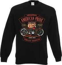 Sweat Shirt in schwarz mit einem Biker-,Chopper-&Old Schoolmotiv Modell Enthusia