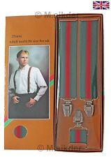 Braces Suspenders Adjustable Slim Unisex Men Trouser Fancy Dress Clip On GiftBox