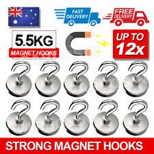 6x 12Lb Magnet Hanging Hooks Rare Earth Neodymium Strong Magnetic Hanger Holder