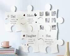 Famiglia Puzzle wall art photo picture frame PAPà MAMMA FIGLIA FIGLIO Fotografia