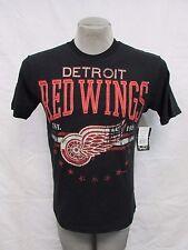 Detriot Red Wings M L XL 2XL Screened Sewn Patch Distressed T Shirt NHL A15M