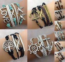 Freundschaft Armband Infinity Symbol Blogger Armschmuck Vintage Eule Vogel LOVE