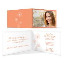 Jugendweihe Einladungskarten Einladung Jugendfeier - Pusteblume in Apricot