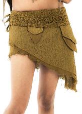 FRILLY PIXIE WRAP MINI SKIRT, psytrance SKIRT boho SKIRT steampunk skirt, GOA
