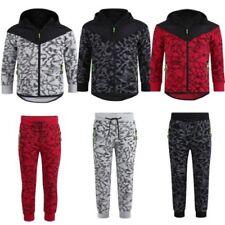 enfants matelassé tricot ou pantalon éraflé imprimé à capuche néon détails Suit