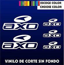 5 X PEGATINAS -STICKER- VINILO - PACK - AXO - Moto Sponsor -AUTOCOLLANT PEGATINA